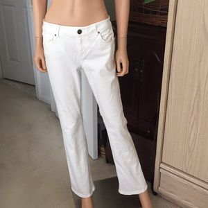 CAbi white bootcut jeans